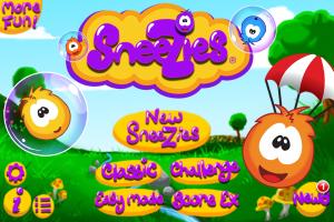 Sneezies Update 2.0 Title Screen