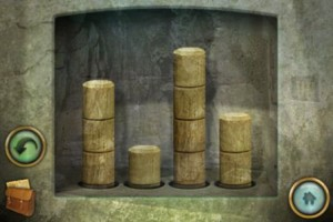 The Lost City wooden pegs/rods puzzle